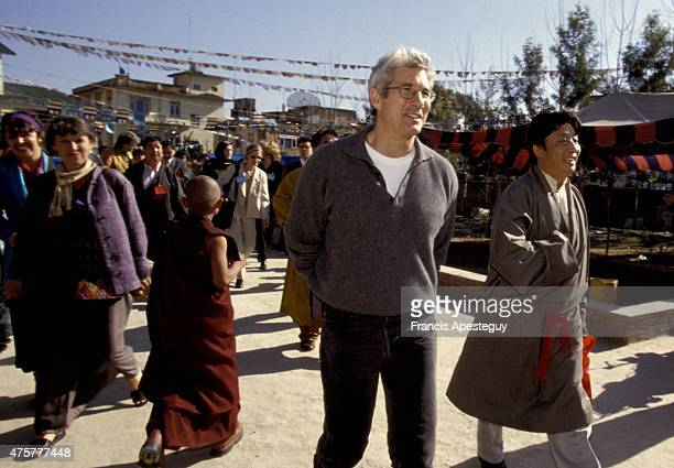 Bodnath Nepal December 1997 Richard Gere attends the ceremonies for the enthronment of a child Tibetan spiritual master in Nepal