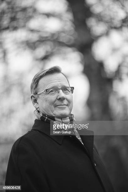 Bodo Ramelow head of the Die Linke party faction in the Thuringia state parliament poses for a photo on November 26 2014 in Erfurt Germany Ramelow...