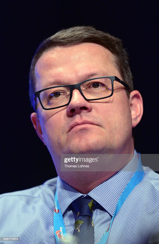Bodo Suhren of Alternative fuer Deutschland (AfD) political party pictured at the party's federal congress on May 01, 2016 in Stuttgart, Germany. A server of the party had been hacked by a left political group and the addresses of AfD members has been published. The AfD, a relative newcomer to the German political landscape, has emerged from Euro-sceptic conservatism towards a more right-wing leaning appeal based in large part on opposition to Germany's generous refugees and migrants policy. Since winning seats in March elections in three German state parliaments the party has sharpened its tone, calling for a ban on minarets and claiming that Islam does not belong in Germany.
