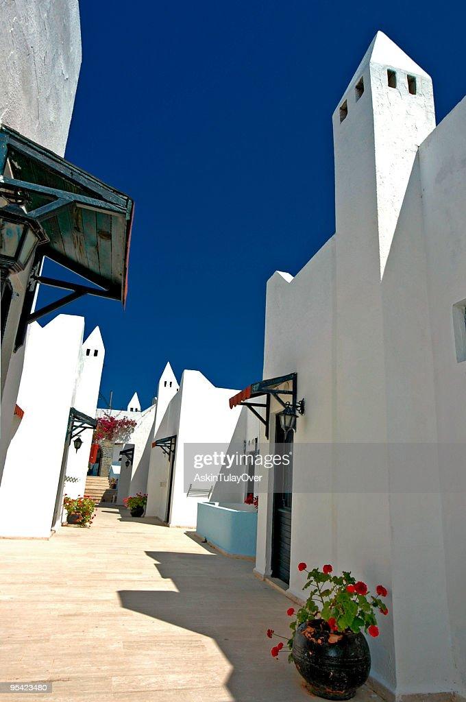 bodrum houses : Stock Photo