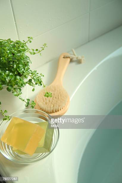 Body brush and soaps