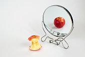 Photo Concept Portraying Body Dysmorphic Disorder, Bulimia, Anorexia Nervosa, Binge Eating