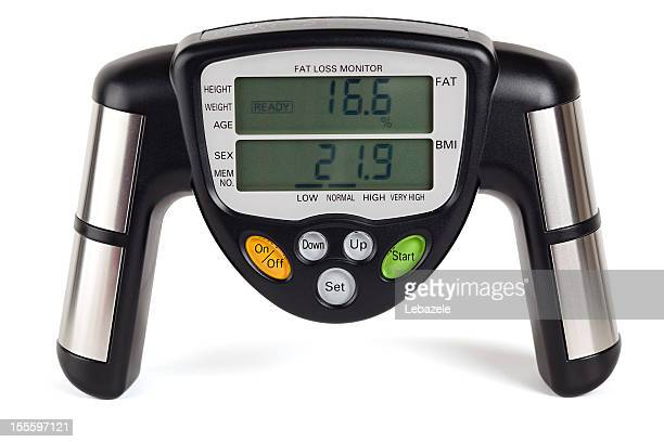 Body fat loss monitor (clipping path)