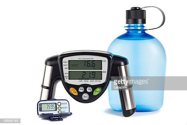 身体の脂肪と Padometer モニタ