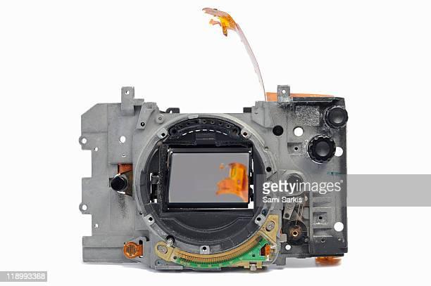 Body of broken 35mm film camera