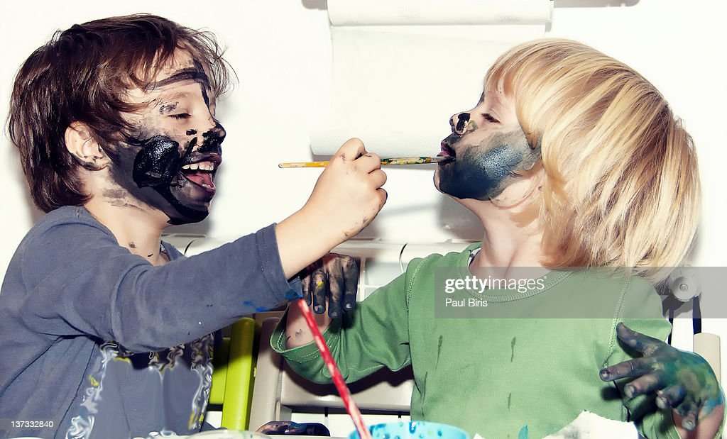 Body painting face : Stock Photo