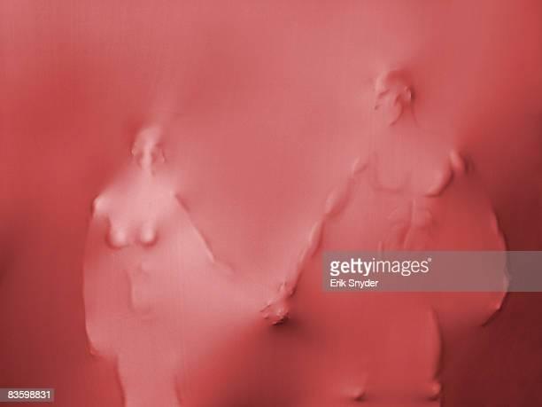 body parts pushing through spandex