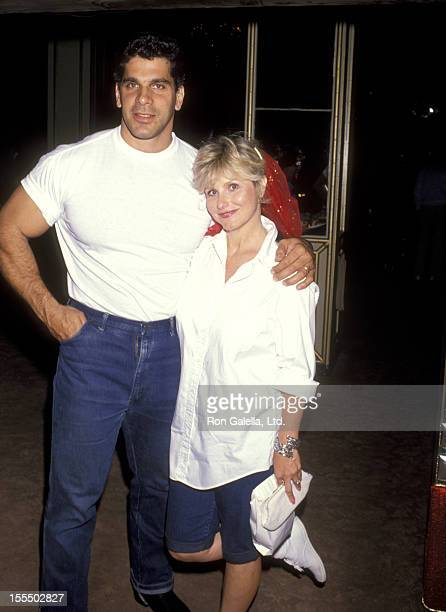 Bodybuilder and Actor Lou Ferrigno and wife Carla Green attend Jean Kasam's Baby Shower on May 1 1990 at Beverly Wilshire Hotel in Beverly Hills...