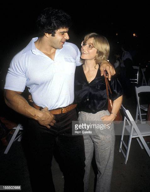 Bodybuilder and Actor Lou Ferrigno and wife Carla Green attend the After Party for Dolly Parton's Concert Performance on September 22 1979 at...