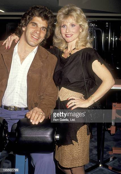 Bodybuilder and Actor Lou Ferrigno and wife Carla Green attend the Grand Opening of The Sports Club/LA on March 28 1987 at The Sports Club/LA in Los...