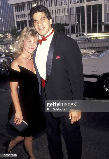 Bodybuilder and Actor Lou Ferrigno and wife Carla Green attend the Simon Wiesenthal Center's National Leadership Award Presented to Arnold...