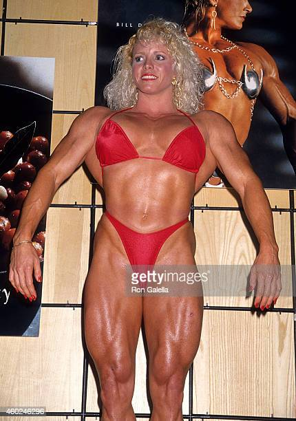 Bodybuilder Debbie Muggli attends the 94th Annual American Booksellers Association Convention and Trade Show on May 28 1994 at the Los Angeles...
