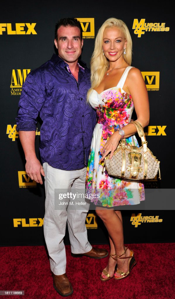Bodybuilder Kagan Yalaman and TV Personality Liz Fuller attends the Los Angeles premiere of 'Generation Iron' at the Chinese 6 Theatres in Hollywood on September 18, 2013 in Hollywood, California.
