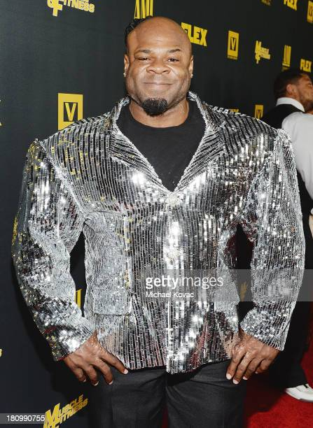 Bodybuilder Kai Green attends the Los Angeles Premiere Of 'GENERATION IRON' From The Producer Of Pumping Iron at Chinese 6 Theater Hollywood on...