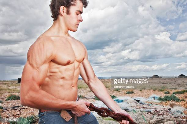 bodybuilder outside