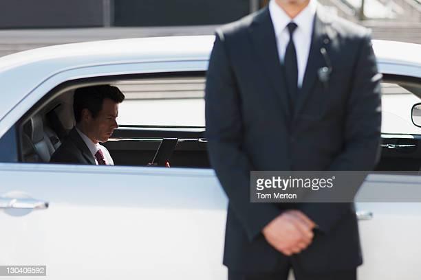 Leibwächter Schutz der Politiker in hektischen Auto