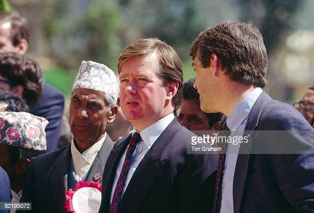 Bodyguards Ken Wharfe And Peter Brown Talking Together While Accompanying The Princess Of Wales On Her Tour Of Nepal
