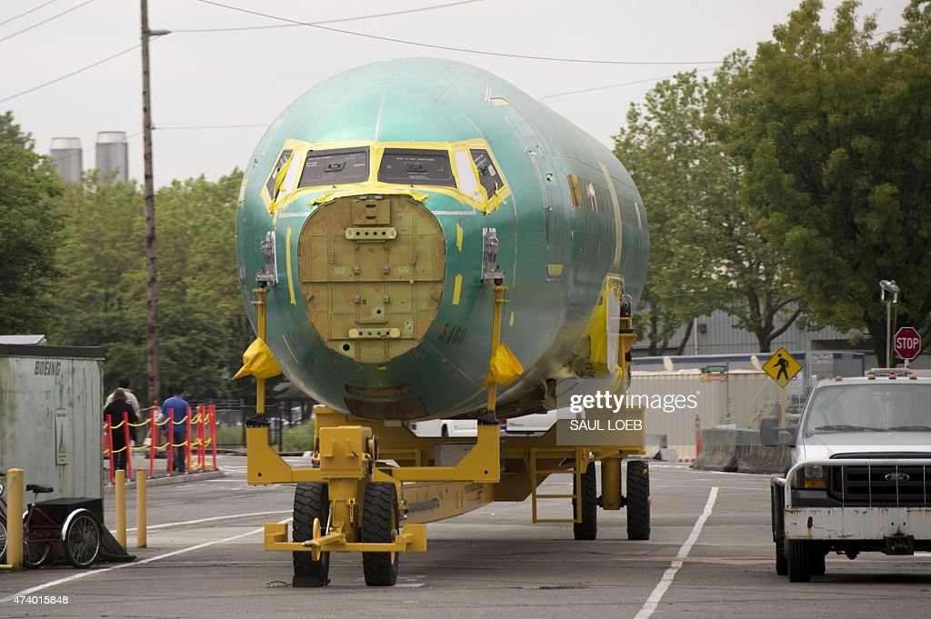 A Boeing 737 aircraft fuselage is seen at Boeing's 737 airplane factory in Renton Washington May 19 2015 Boeing expects to deliver 750755 commercial...
