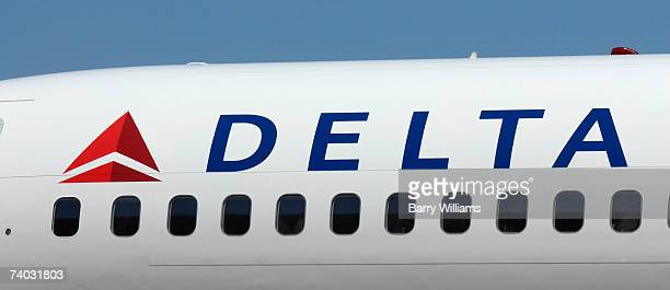 Boeing 757 with a new Delta Airlines logo sits on the tarmac following the company's emergence from bankruptcy at Hartsfield Jackson International...