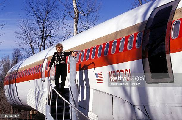 Boeing and Silo of missile as house in United States in March 1997 Jo Ann is happy to show her strange house