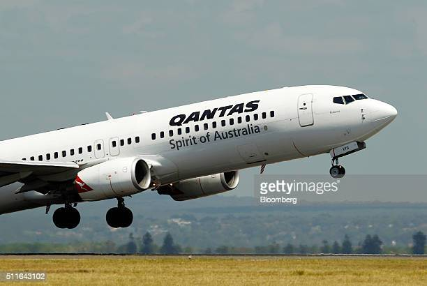 A Boeing Co 737800 aircraft operated by Qantas Airways Ltd takes off from Sydney Airport in Sydney Australia on Monday Feb 22 2016 Qantas Airways is...