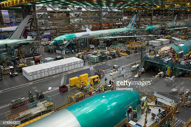 Boeing Co 777 planes are manufactured at the company's facility in Everett Washington US on Monday June 1 2015 Adding capacity on the 777300ER is...