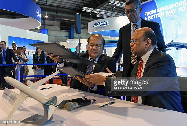 Boeing Commercial Airplanes senior vice president of sales in the AsiaPacific and India Dinesh Keskar and Frederick Reiher chairman of Papua New...