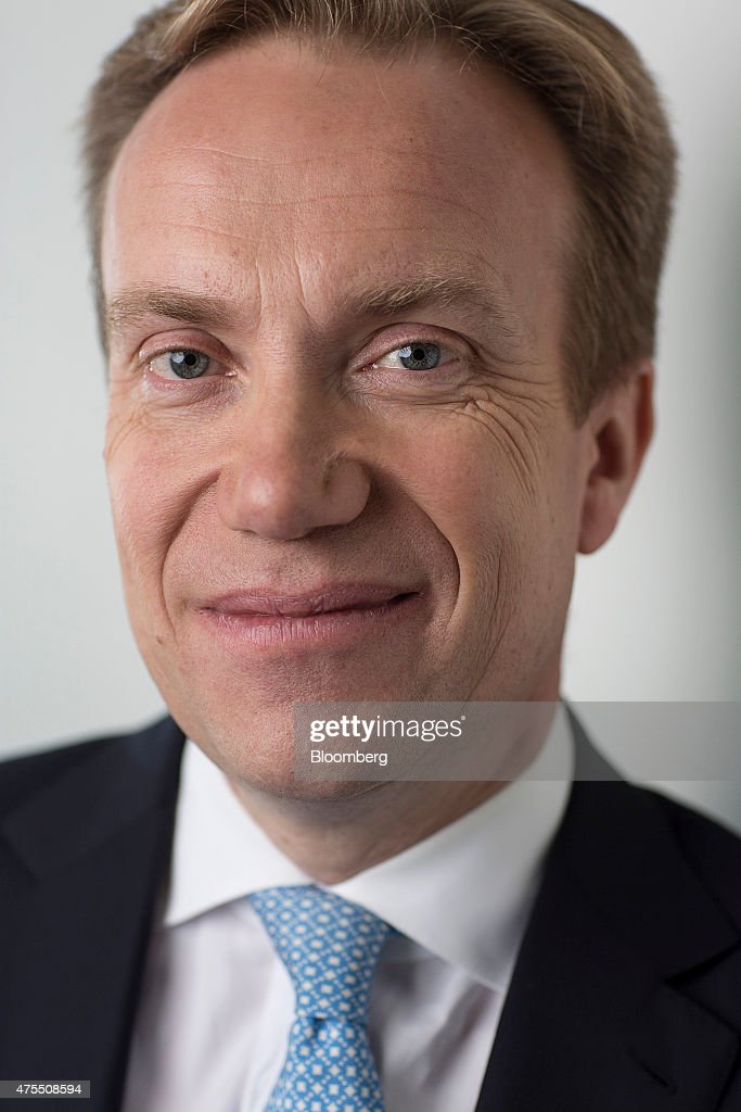Boerge Brende, Norway's foreign minister, poses for a photograph following a Bloomberg Television interview in London, U.K., on Monday, June 1, 2015. 'It's in Europe's interest that Britain stays' in the European Union, according to Brende. Photographer: Simon Dawson/Bloomberg via Getty Images
