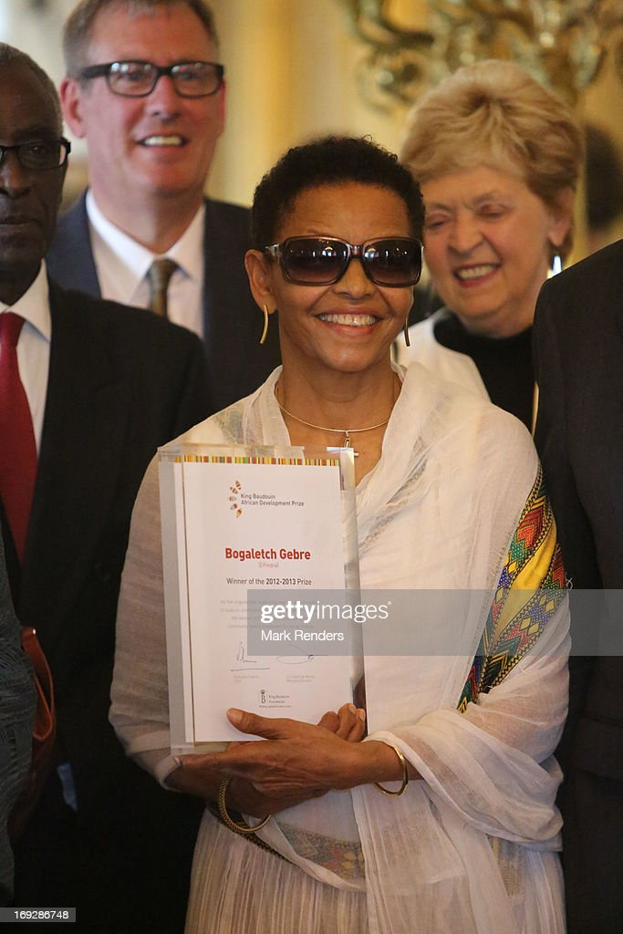 Bogaletch Gebre assists the King Baudouin African Development Price at the Royal Palace on May 22, 2013 in Brussel, Belgium.