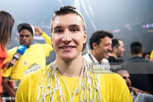 Bogdan Bogdanovic #13 of Fenerbahce Istanbul during the 2017 Final Four Istanbul Turkish Airlines EuroLeague Champion Trophy Ceremony at Sinan Erdem...