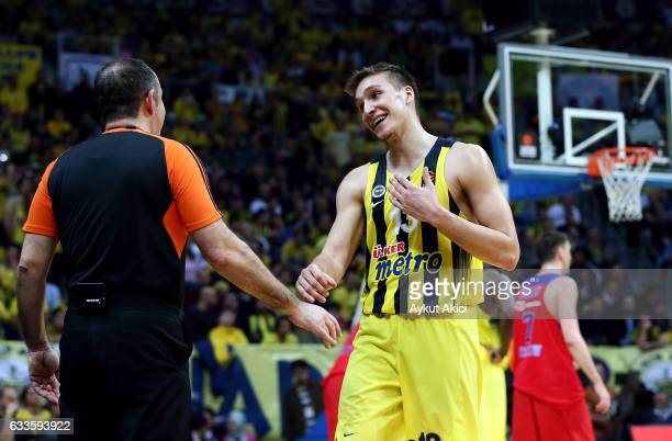 Bogdan Bogdanovic #13 of Fenerbahce Istanbul in action during the 2016/2017 Turkish Airlines EuroLeague Regular Season Round 21 game between...
