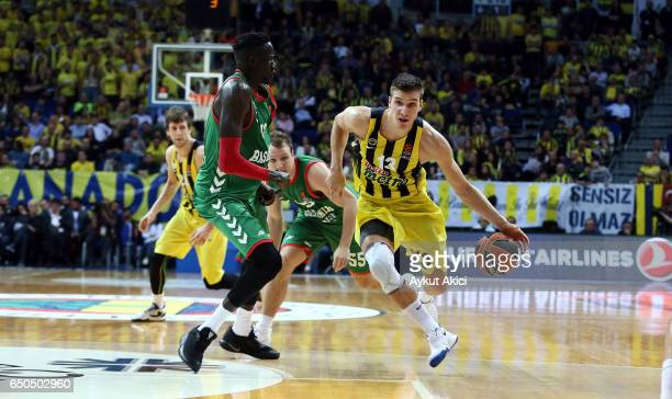 Bogdan Bogdanovic #13 of Fenerbahce Istanbul in action during the 2016/2017 Turkish Airlines EuroLeague Regular Season Round 25 game between...