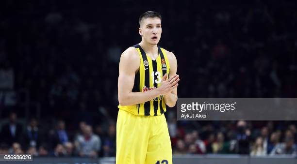 Bogdan Bogdanovic #13 of Fenerbahce Istanbul in action during the 2016/2017 Turkish Airlines EuroLeague Regular Season Round 28 game between Anadolu...