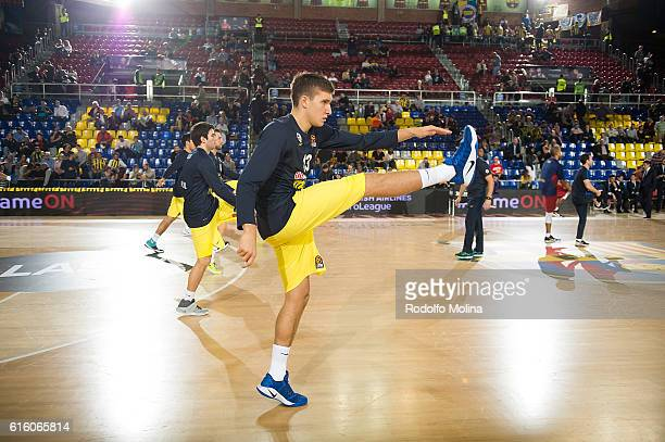 Bogdan Bogdanovic #13 of Fenerbahce Istanbul warming up prior 2016/2017 Turkish Airlines EuroLeague Regular Season Round 2 between FC Barcelona v...