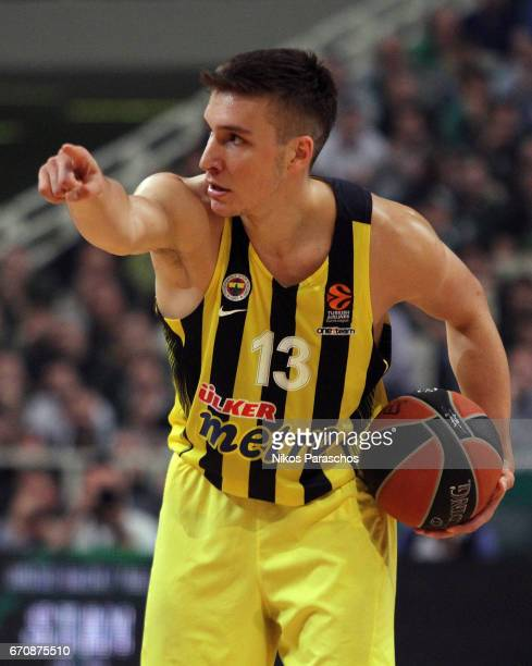 Bogdan Bogdanovic of Fenerbahce Istanbul in action during the 2016/2017 Turkish Airlines EuroLeague Playoffs leg 2 game between Panathinaikos...
