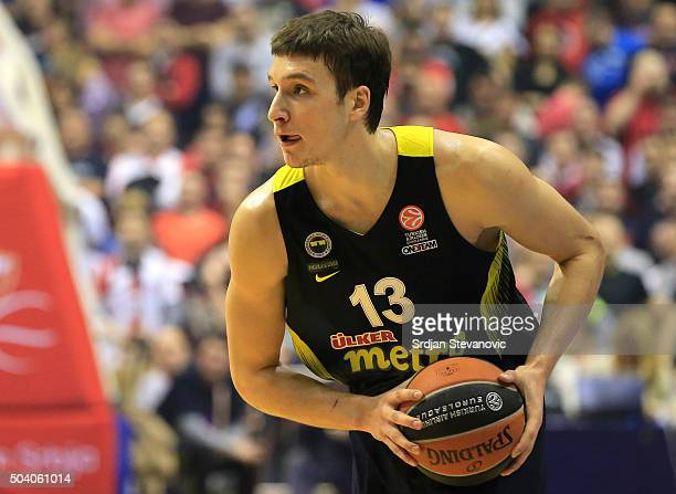 Bogdan Bogdanovic of Fenerbahce Istanbul in action during the Turkish Airlines Euroleague Basketball Top 16 Round 2 game between Crvena Zvezda...