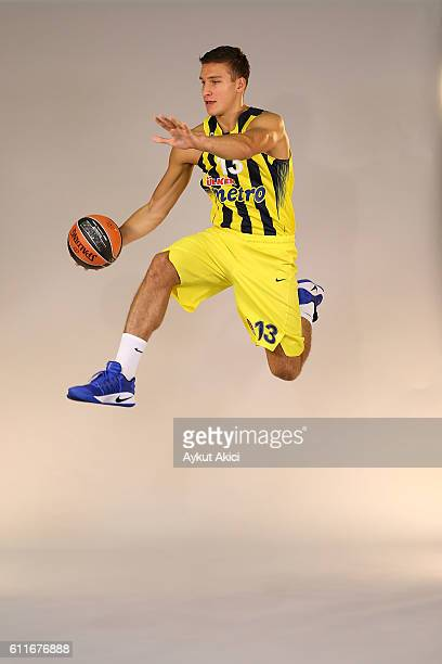 Bogdan Bogdanovic of Fenerbahce Istanbul poses during the 2016/2017 Turkish Airlines EuroLeague Media Day at Fenerbahce Ulker Sports Arena on...