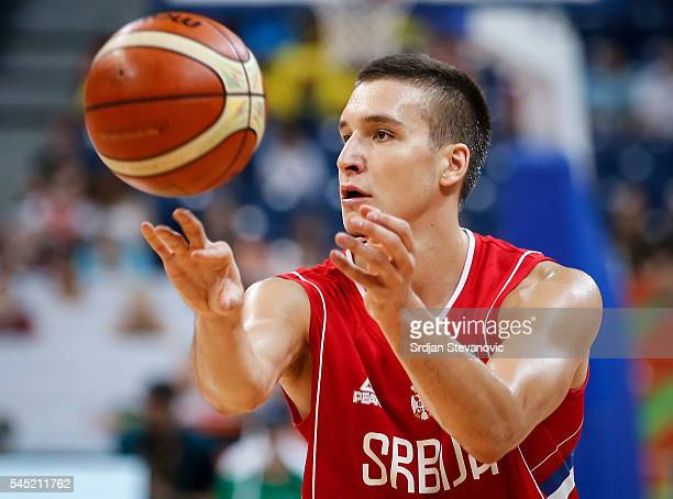 Bogdan Bogdanovic of Serbia in action during the 2016 FIBA World Olympic Qualifying basketball Group A match between Angola and Serbia at Kombank...