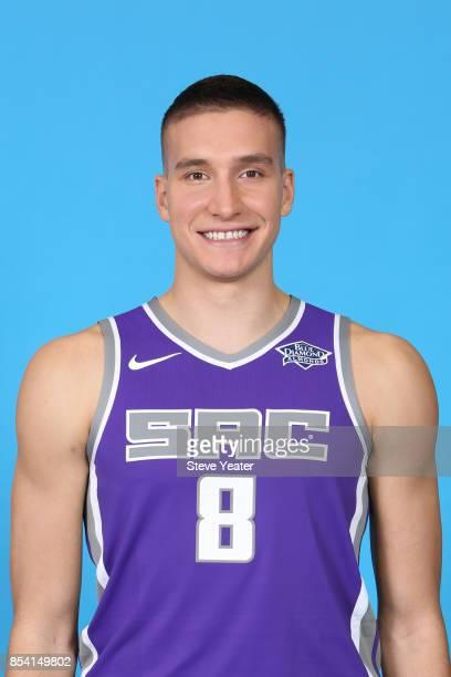 Bogdan Bogdanovic of the Sacramento Kings poses for a head shot at media day on September 25 2017 at the Golden 1 Center in Sacramento California...