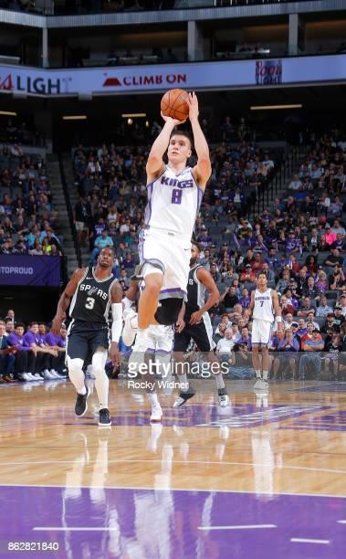 Bogdan Bogdanovic of the Sacramento Kings shoots against the San Antonio Spurs on October 2 2017 at Golden 1 Center in Sacramento California NOTE TO...