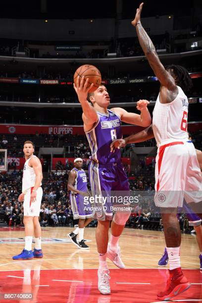 Bogdan Bogdanovic of the Sacramento Kings shoots the ball against the LA Clippers on October 12 2017 at STAPLES Center in Los Angeles California NOTE...