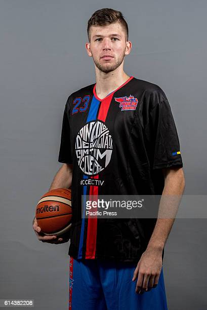 GARDA 'MIHAI VITEAZUL' BUCHAREST ROMANIA Bogdan Popa of Steaua CSM EximBank Bucharest during the official photo session of Steaua CSM EximBank...