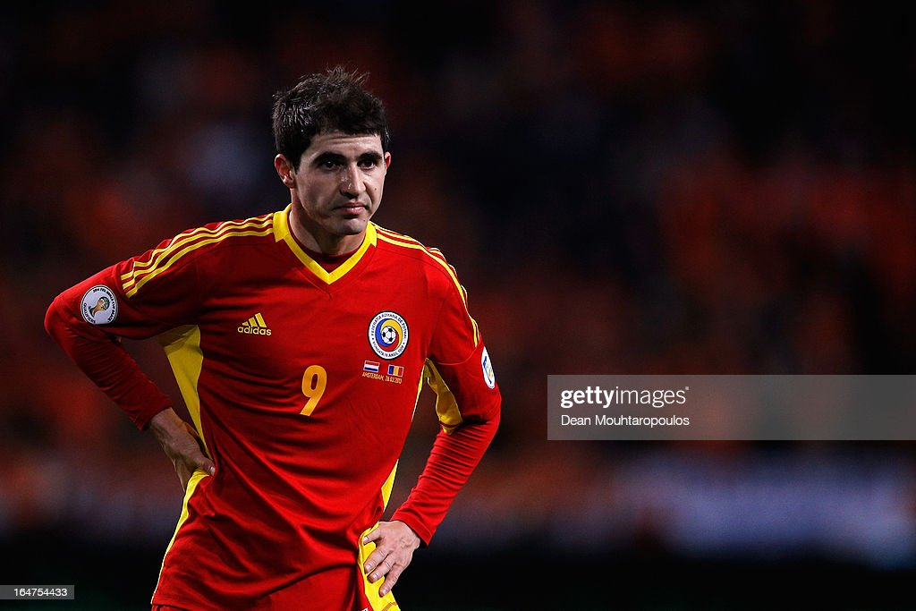 Bogdan Stancu of Romania looks on during the Group 4 FIFA 2014 World Cup Qualifier match between Netherlands and Romania at Amsterdam Arena on March 26, 2013 in Amsterdam, Netherlands.