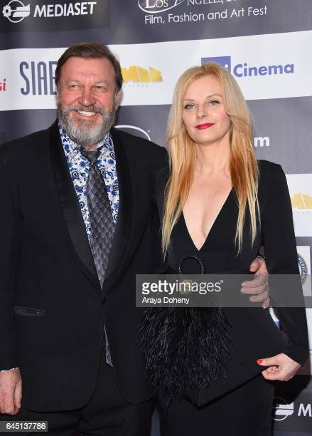 Bogdan Szumilas and Zsazsa Bodizs attend the 12th Edition of the Los Angeles Italia Film Fashion and Art Fest at TCL Chinese 6 Theatres on February...