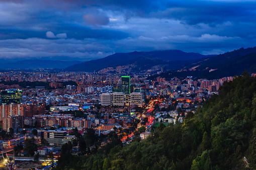 コロンビア都市部の遠景