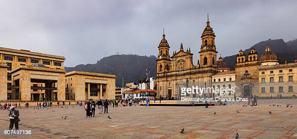 Bogota, Colombia - Plaza Bolivar Classical Spanish Colonial Architecture
