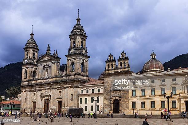 Bogotá, Colombia-Plaza de Bolívar y la catedral