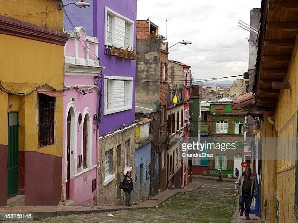 Bogota, Colombia: typical Spanish colonial architecture in La Candelaria