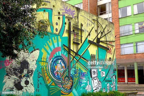 Bogota, Cundinamarca, Colombia - Street Art in La Candelaria