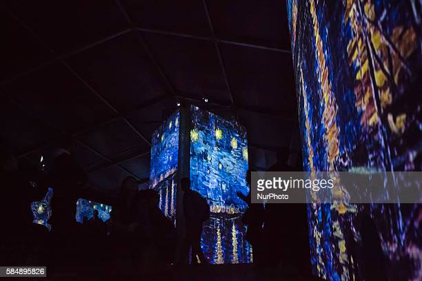 Bogota residents attended the opening of Van Gogh Alive in Bogota on July 30 2016 An innovative experience that explores the senses of viewers who...